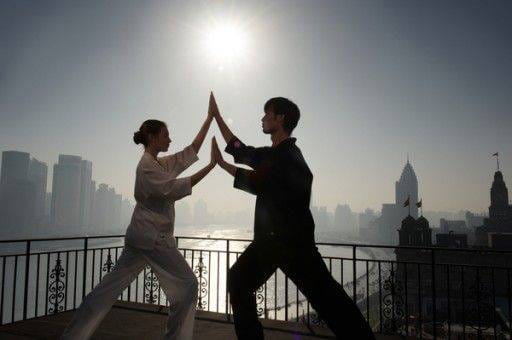 Fairmont Shangai Tai Chi On The Roof