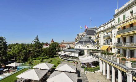 The Beau-Rivage Palace in Lausanne, a historical hotel